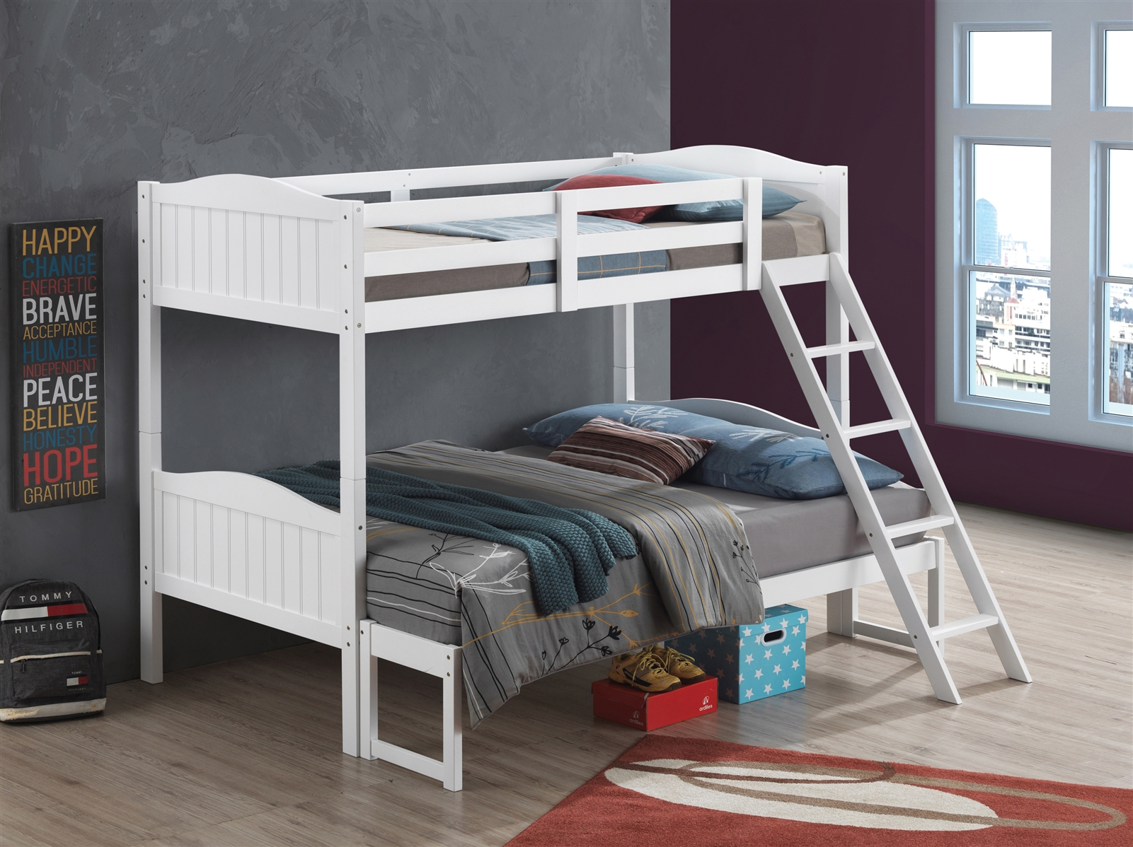 Picture of: Littleton Solid Wood Twin Over Full Bunk Bed Available In 5 Colors