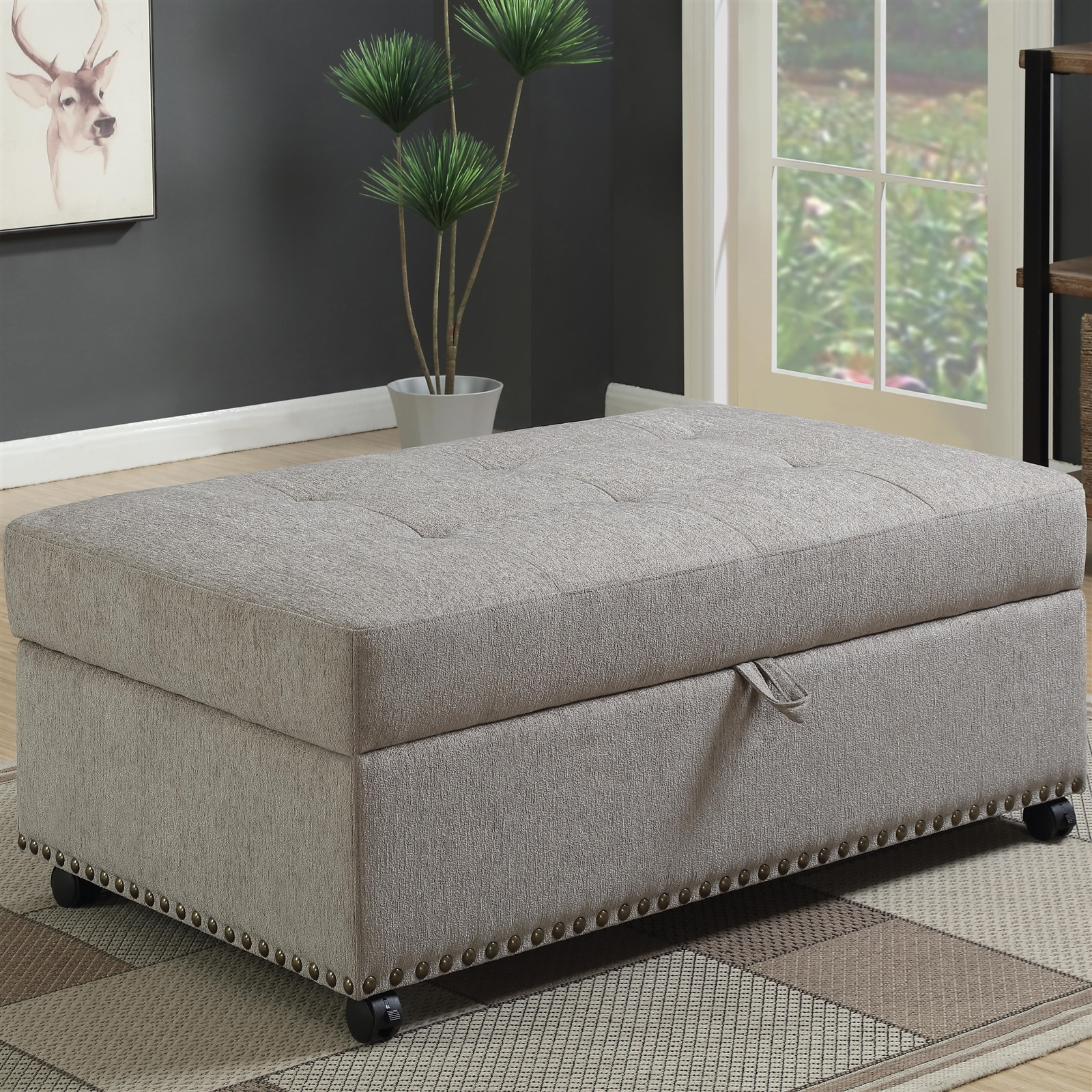 Brilliant Ottoman W Pull Out Bed Alphanode Cool Chair Designs And Ideas Alphanodeonline