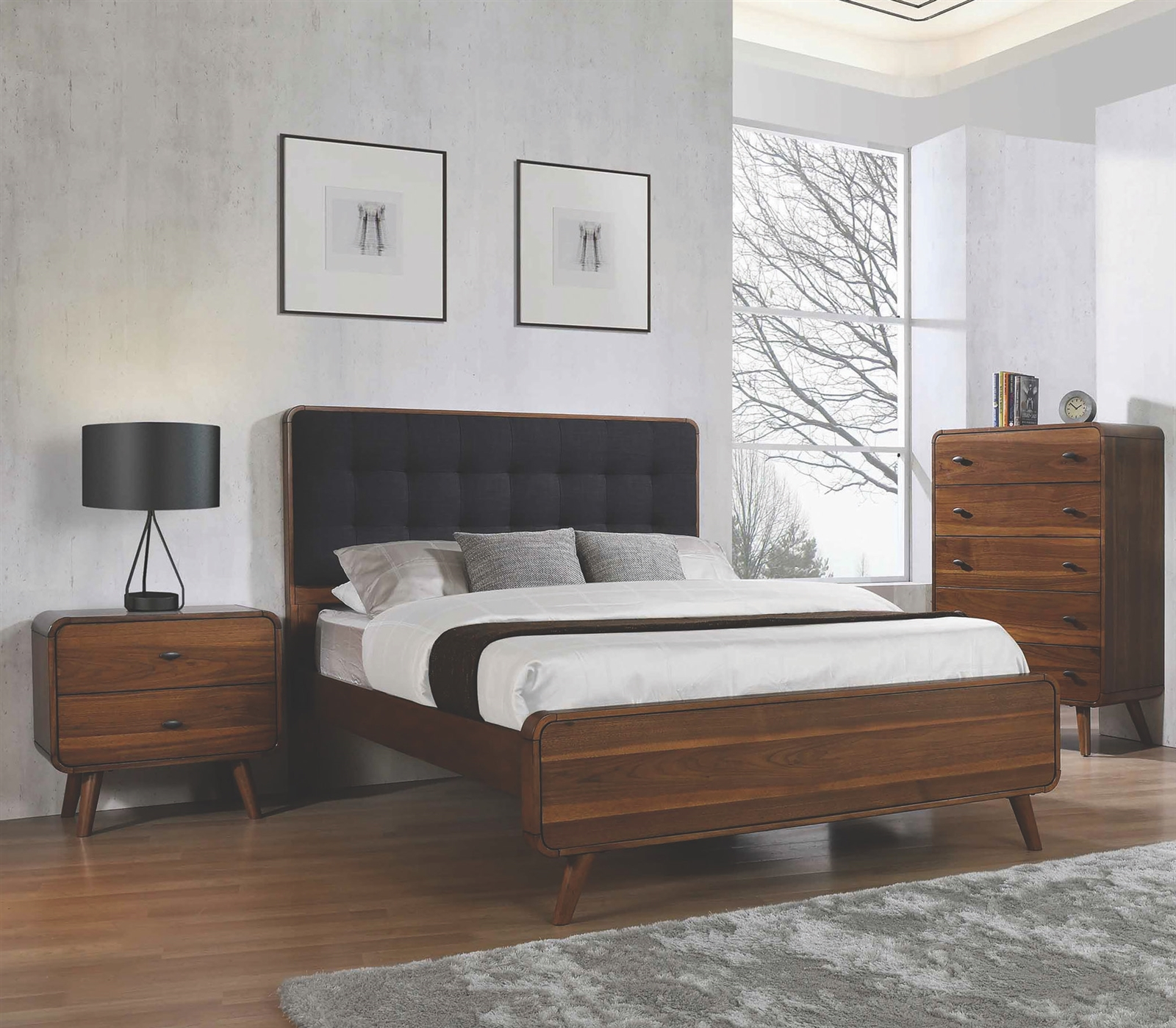 Image of: Mid Century Modern Bedroom Group By Coaster 205131