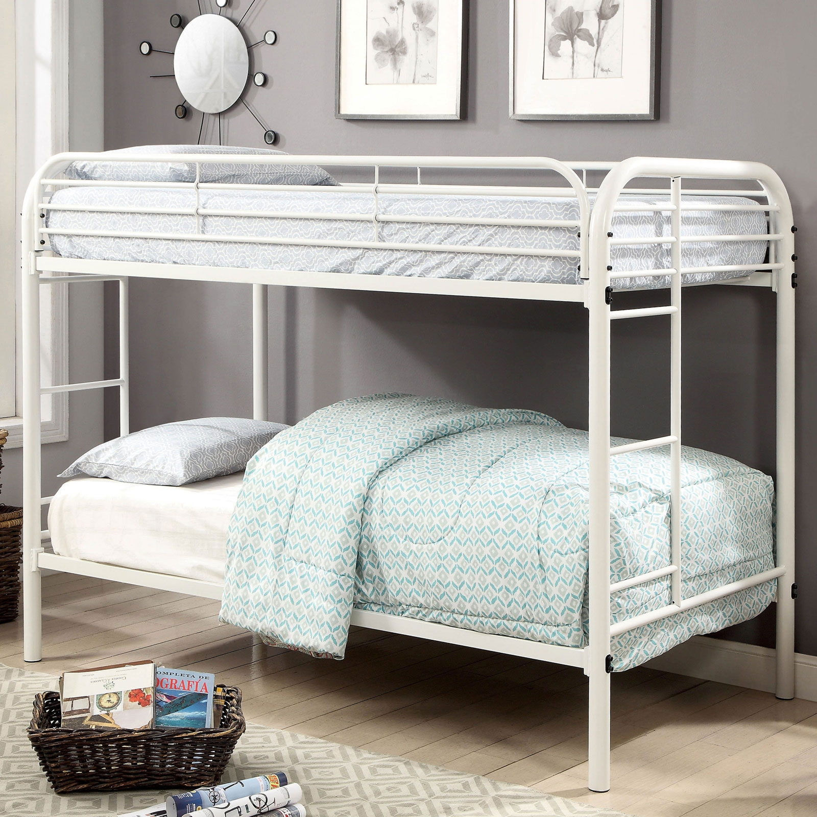 Picture of: Opal Metal Constructed Twin Twin Bunk Bed Cm Bk931