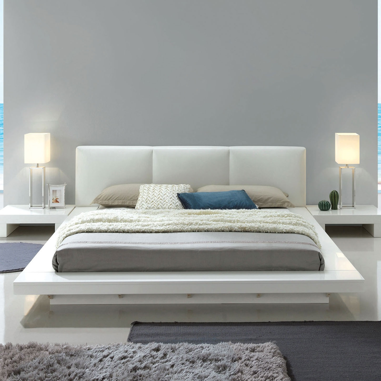 Christie Modern Low Profile Platform Bed By Furniture Of America Cm7550