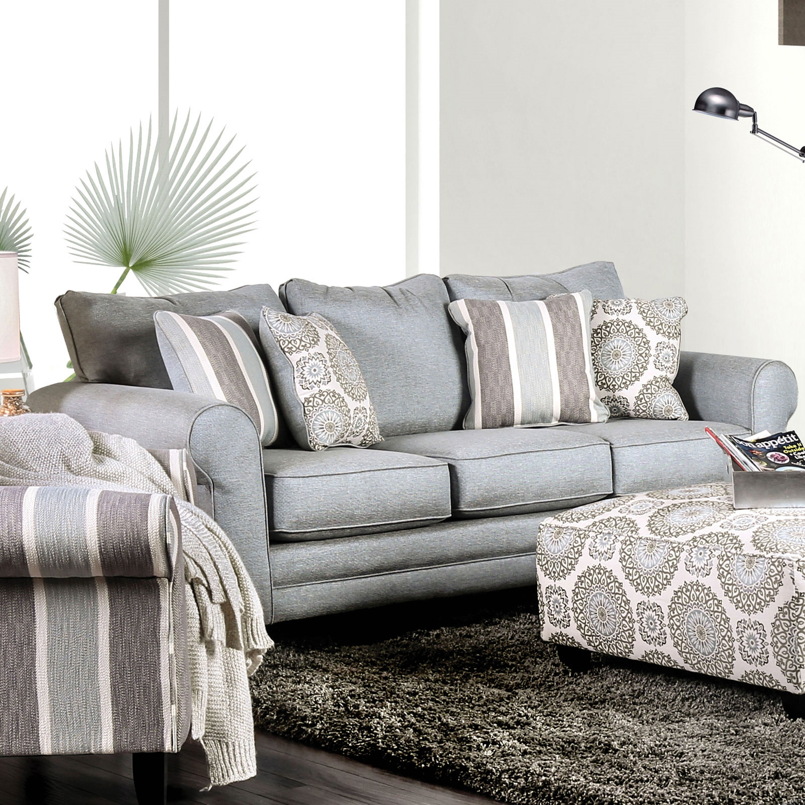Stunning Transitional Style Sofa In